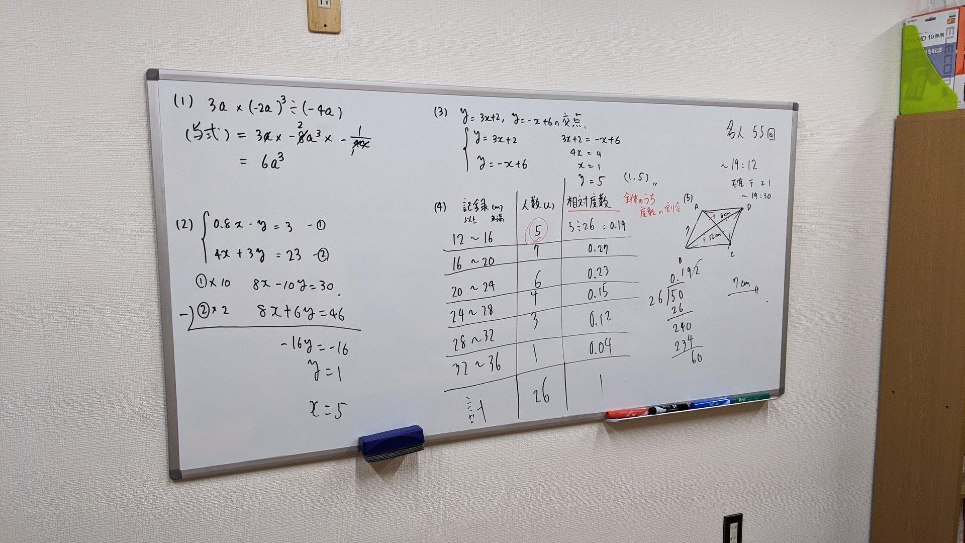 2月3日→中学2年生数学